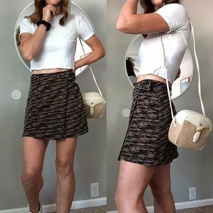 Vintage wrap mini skirt